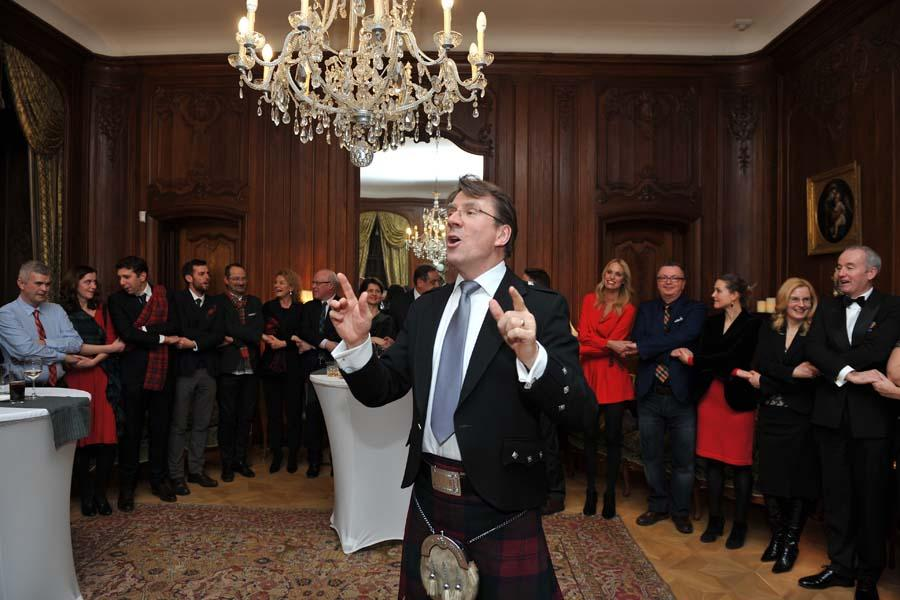 Video: British Ambassador's Burns Night In Budapest