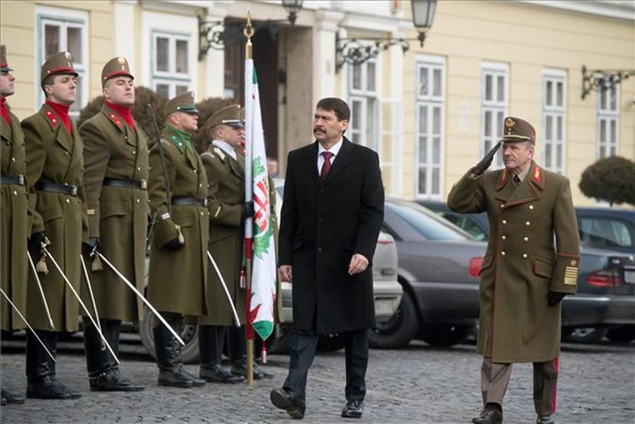 President Addresses Hungarian Military Leaders