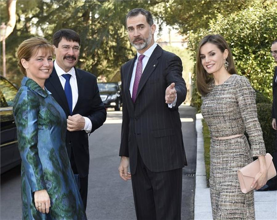 Hungarian President, Spanish King Open Exhibition In Madrid