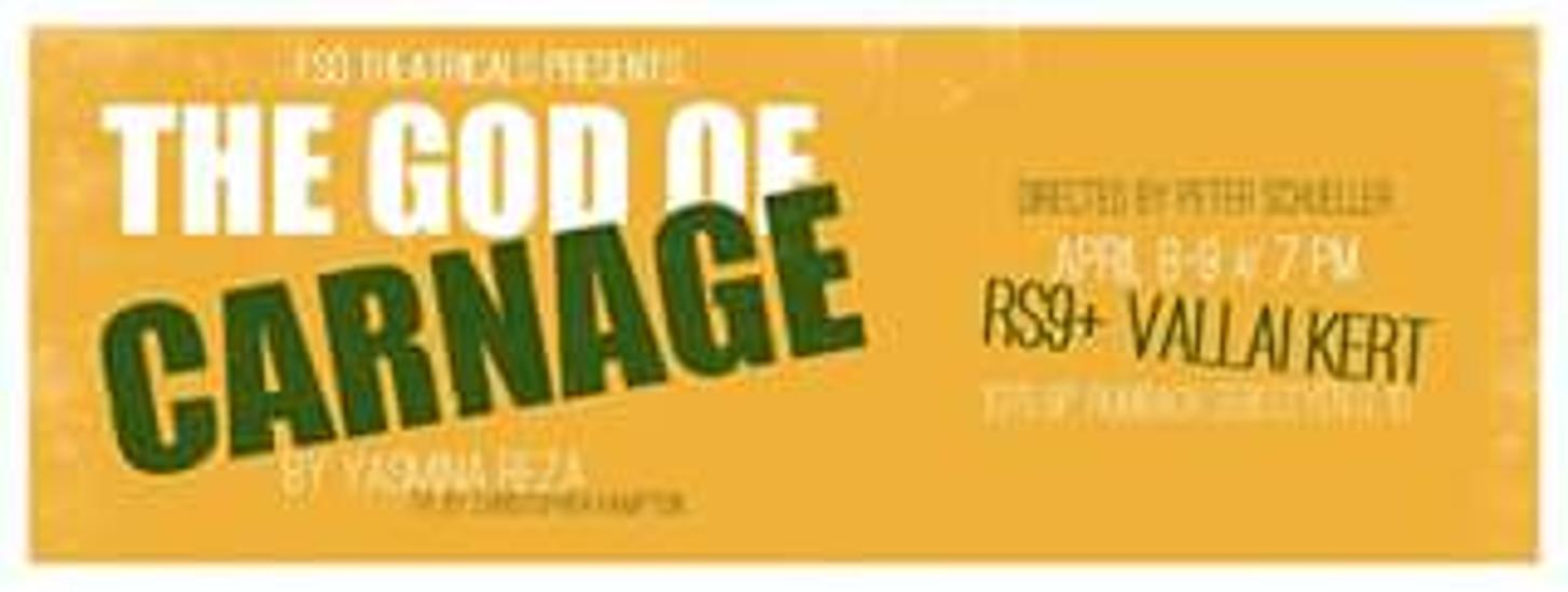 The God of Carnage - Presented By Eső Theatricals, 8 & 9 April