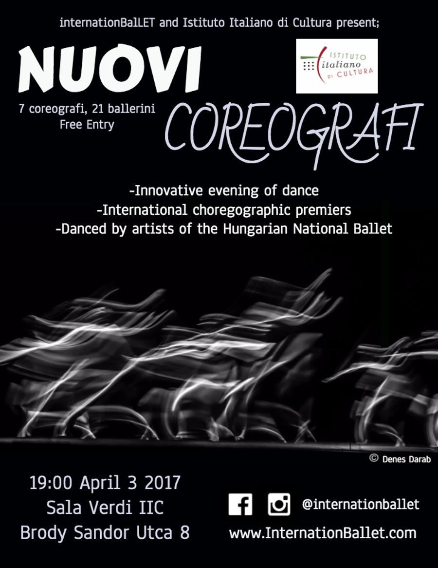 Free Event: InternationBalLET: Nuovi Coreografi, Italian Institute, 3 April