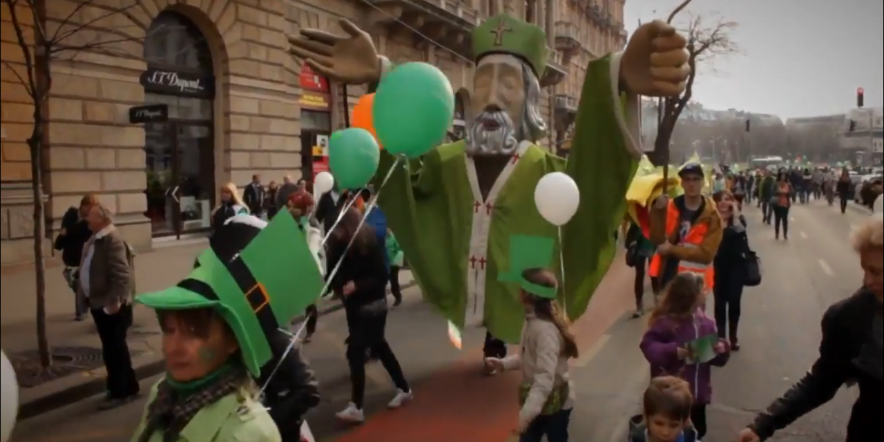Video: Budapest Going Green For St Paddy