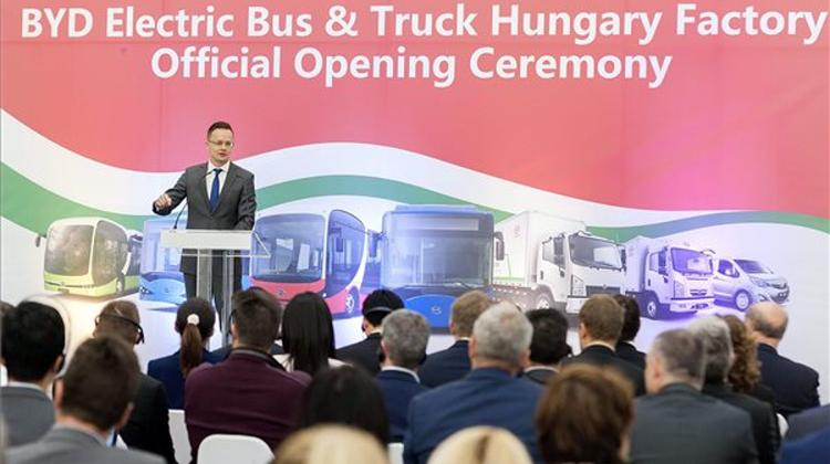 China's BYD Opens EUR 20m Electric Bus Plant In Hungary
