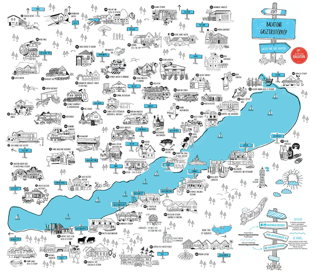 Balaton Gastro Map - Everything You Need To Know About The Lake