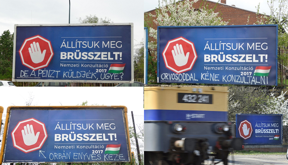 """Let's Stop Brussels!"" Ads Suddenly Disappear All Over Hungary"