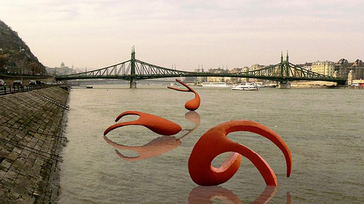 Contemporary Installation On The Danube