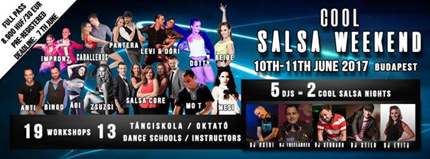 Cool Salsa Weekend 2017, Budapest, 10 - 12 June