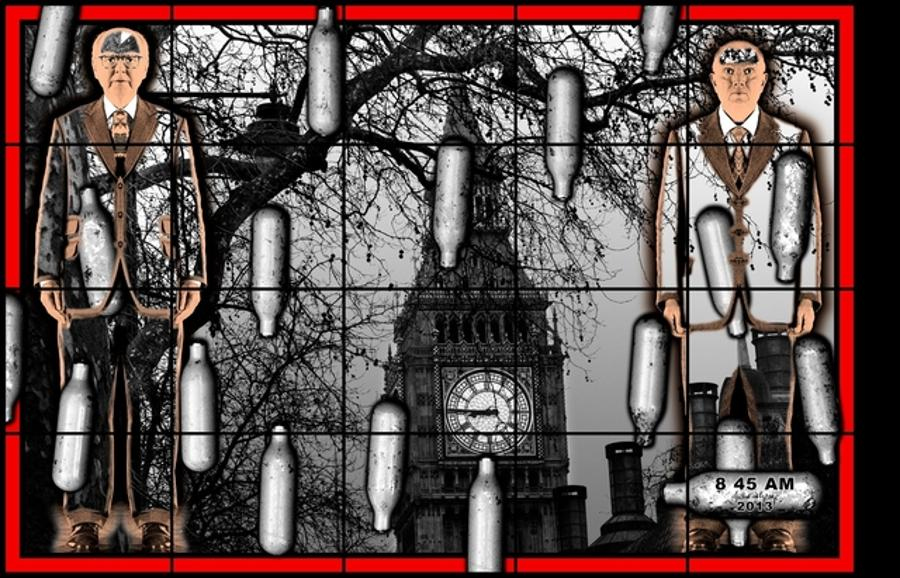 Gilbert & George Scapegoating Pictures For Budapest, Ludwig Museum