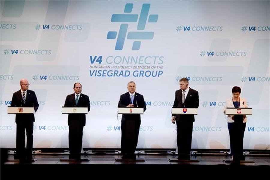 Meeting Of Visegrad Four Heads Of Government And The Egyptian President In Budapest