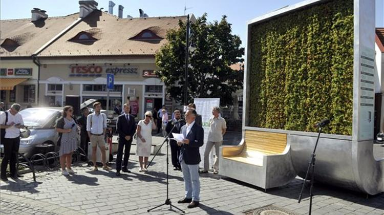 Air-Filtering Moss Wall Installed In Kolosy Square