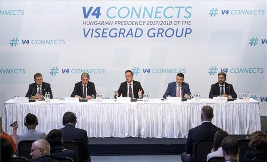 Visegrad Group Foreign Ministers & British Finance Minister Hold Talks In Budapest