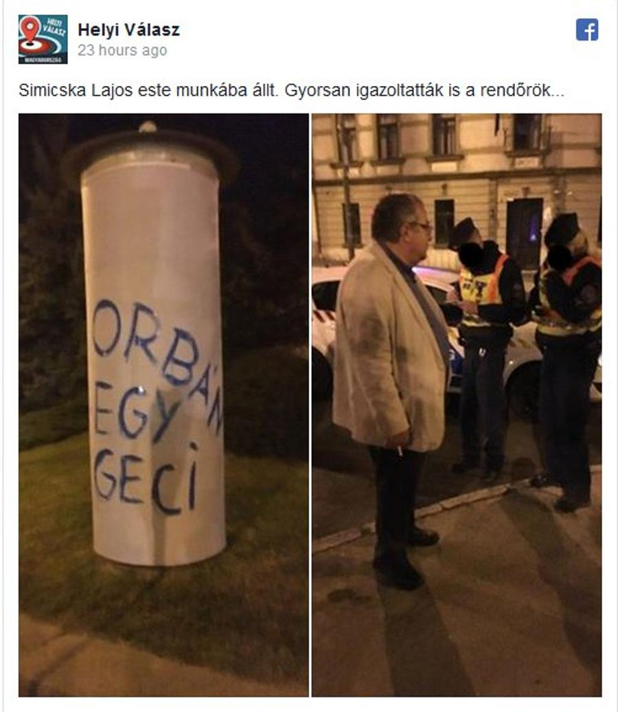 Fidesz Oligarch-In-Exile Lajos Simicska Vandalizes Own Property To Make A Point