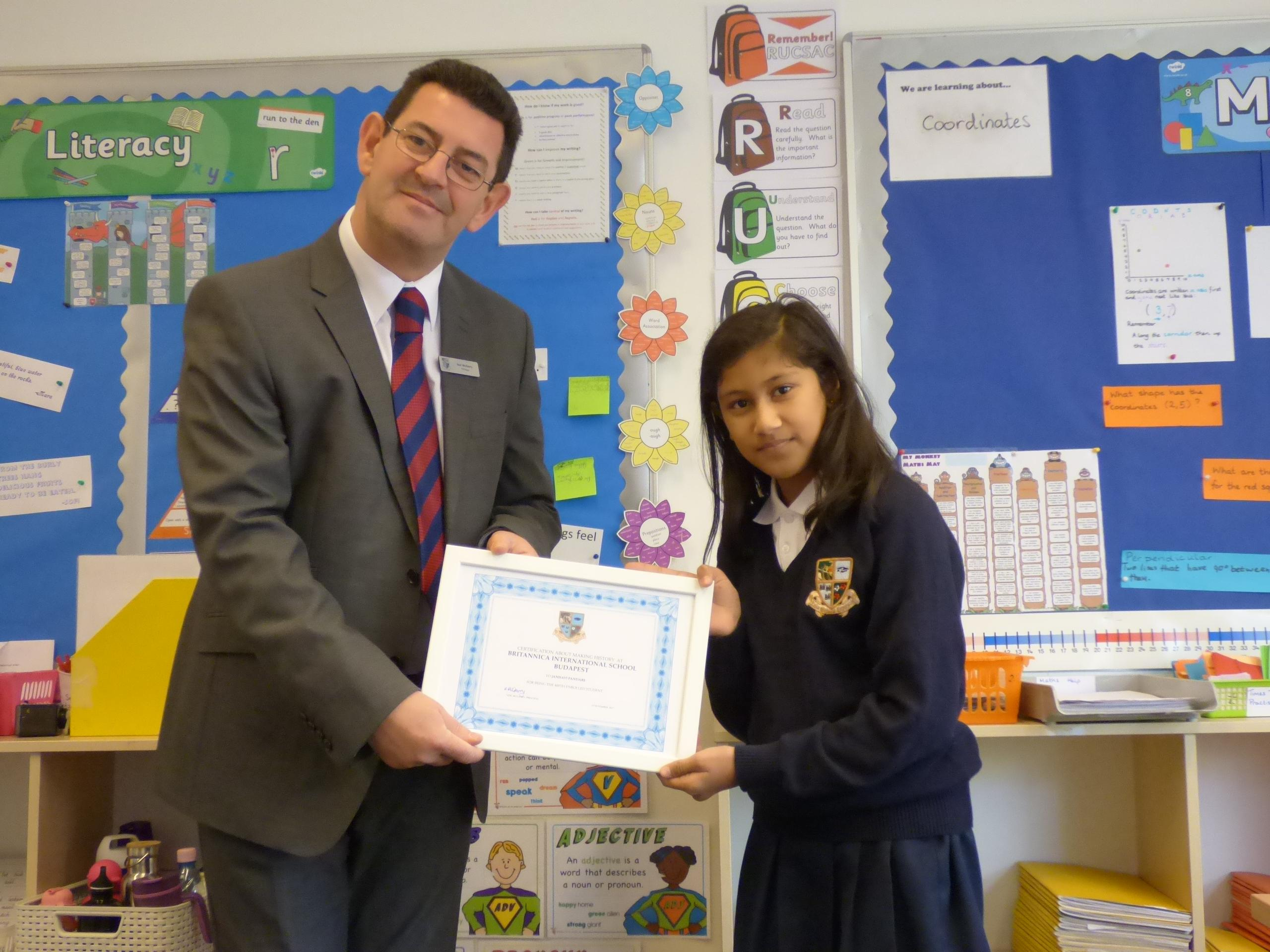 Record Breaking Numbers @ Britannica International School: Student Number 400