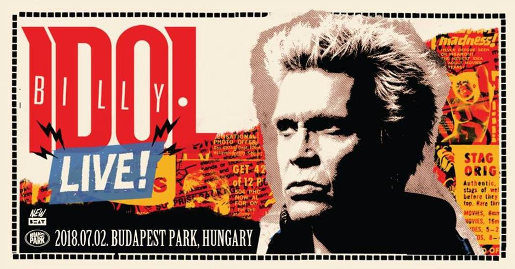 Tickets Available Soon For Billy Idol Concert, Budapest Park, 2 July