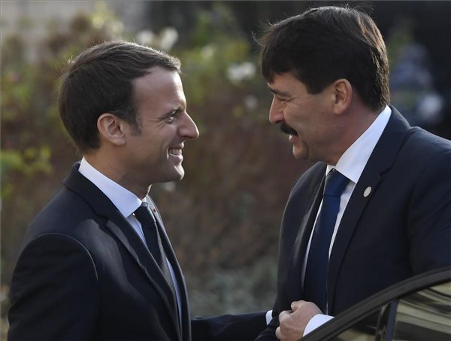 Áder, Macron Consult On Paris Climate Accord Implementation