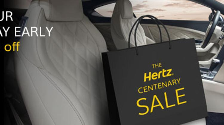 Celebrate Hertz's 100th Birthday With Up To 20% Discount Worldwide